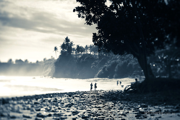 Tilt shift photography black white bali images