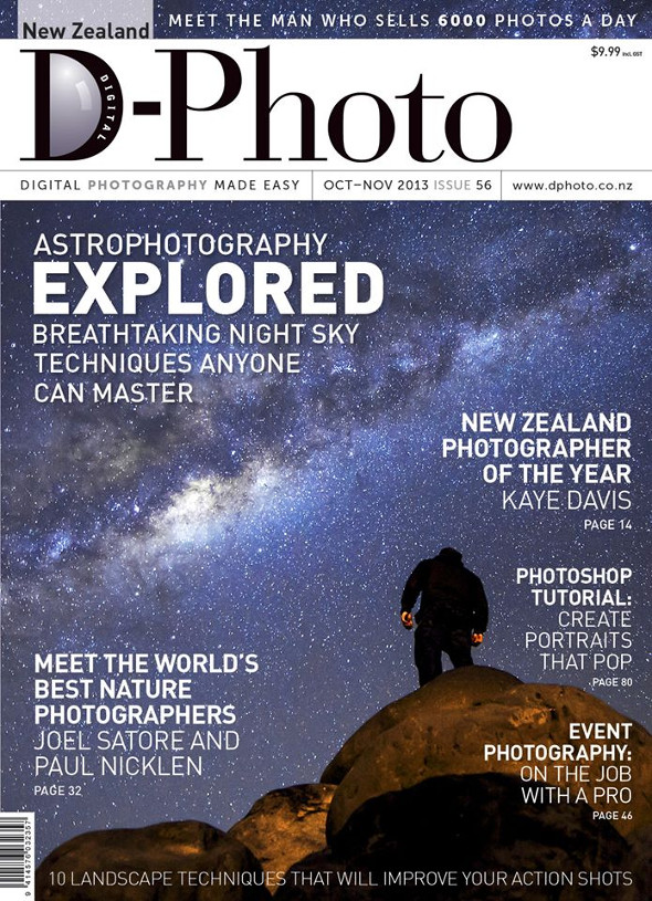 Look Up scores the front cover of the Oct/Nov D-Photo Magazine - There's also an article inside where I share some tips on astrophotography.