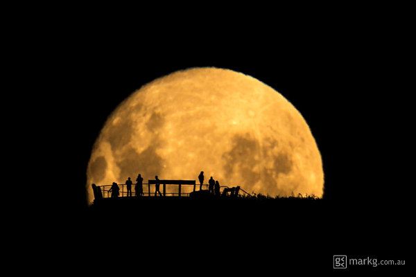 Moon Silhouettes photographed by Mark Gee