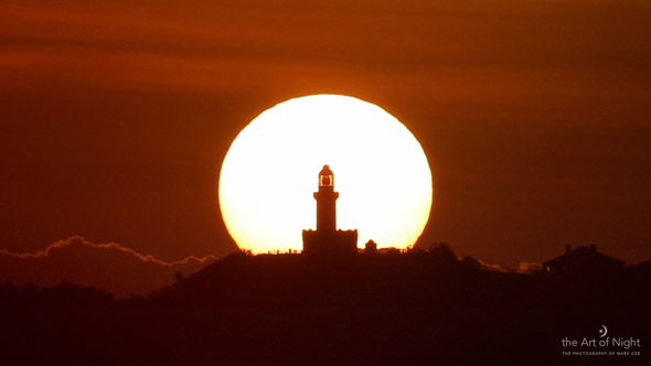 Sunrise over the Cape Byron Lighthouse