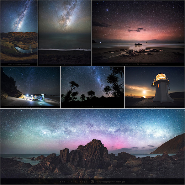 Just some of the night skies photographed in New Zealand, click on the image to see all 63 - Mark Gee, Milky Way, Astrophotography