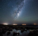 A shot from City Lights to Dark Skies of the Milky Way over the Wairarapa region in New Zealand